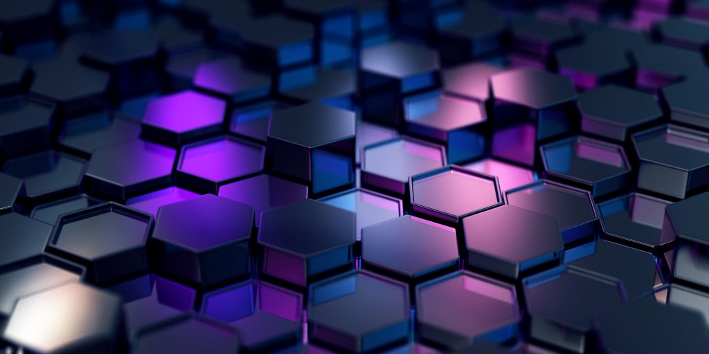 Abstract Black Hexagons